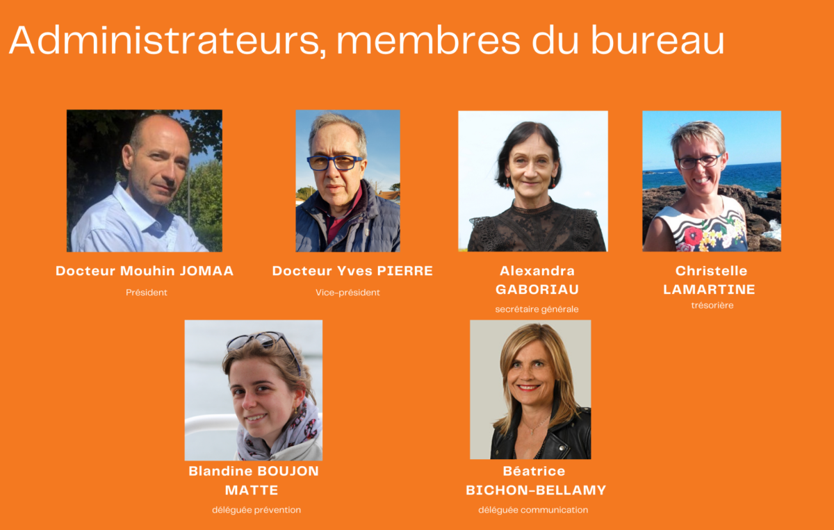 Membres du bureau du conseil d'administration 2021