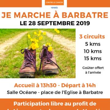28 septembre : Je marche à Barbatre
