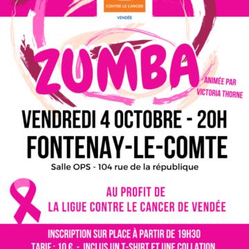 4 octobre : Zumba à Fontenay-Le-Comte