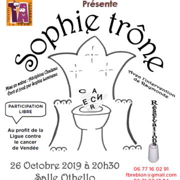 26 octobre : Sophie Trône à Mareuil sur Lay