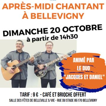 20 octobre : Après-midi chantant à Bellevigny