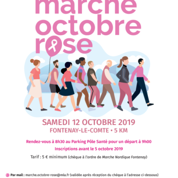 12 Octobre : Marche Rose à Fontenay-le-Comte