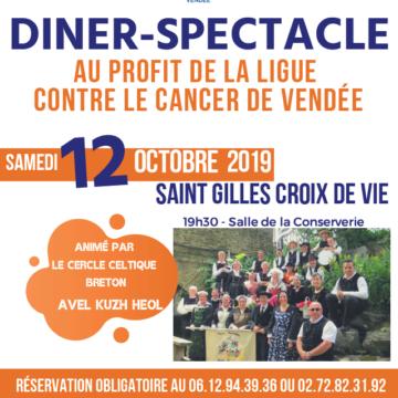 12 octobre : Diner Spectale à Saint Gilles Croix de Vie