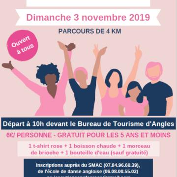 3 novembre : Marche Rose à Angles