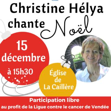15 décembre : Concert Christine Hélya