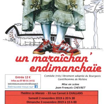 2 et 3 Novembre : Spectacle Les Brimbalures