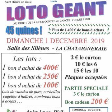 1er décembre : Loto à la Chataigneraie