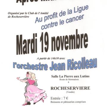 19 Novembre : Après-midi dansant à Rocheservière