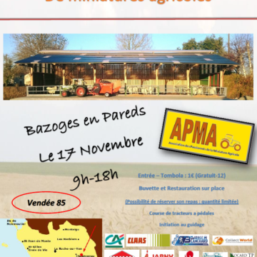 17 novembre : Expo miniatures agricoles à Bazoges en Pareds