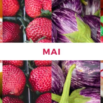Calendrier fruits et légumes de saison : Mois de Mai
