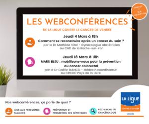 Le programme des webconference d'avril