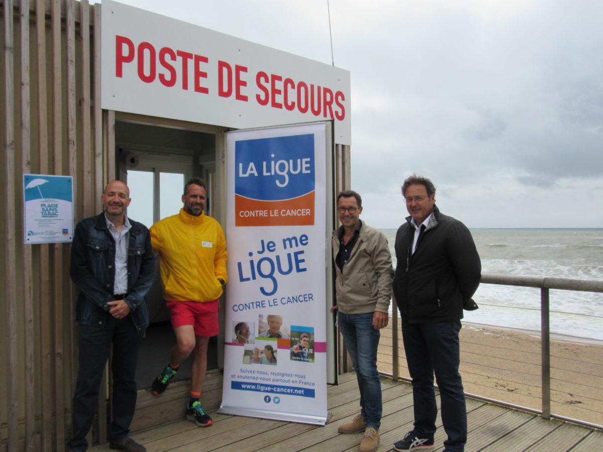 Inauguration plage sans tabac à Bretignolles sur mer