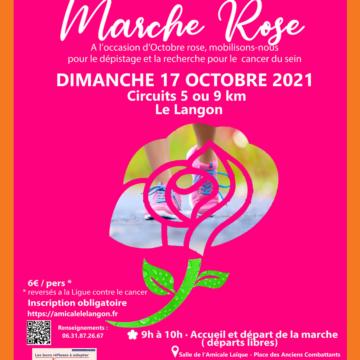 Marche Rose au Langon avec l'amicale laïque 85